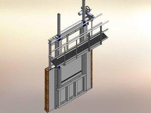 Schleuse Patentzeichnungen Sonderanlagen Konstruktion 3D Modell Zeichnung