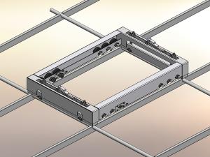 Gewächshaus Lagergehäuse Lagereinheit Patentzeichnungen Sonderanlagen Konstruktion 3D Modell Zeichnung 2D Ableitung
