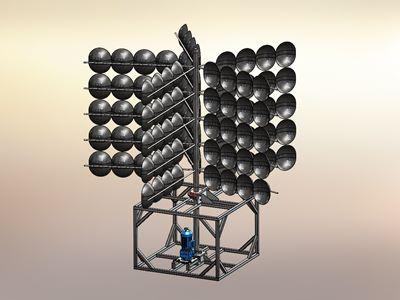 Sonderanlagen Sonderanlage mit Motor Konstruktion 3D Modell Zeichnung