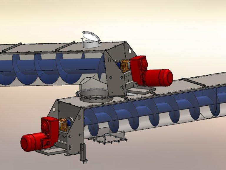 Trogschneckenförderer Schneckenwelle Schneckenförderer Trogschnecke Konstruktion Fördertechnik