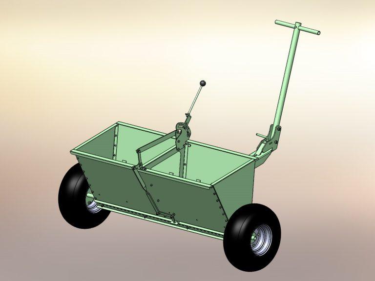 Patentzeichnungen Streuwagen Sonderanlagen Konstruktion 3D Modell Zeichnung