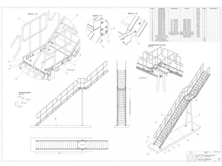 Treppengeländer Treppen und Geländer Stahl Konstruktion