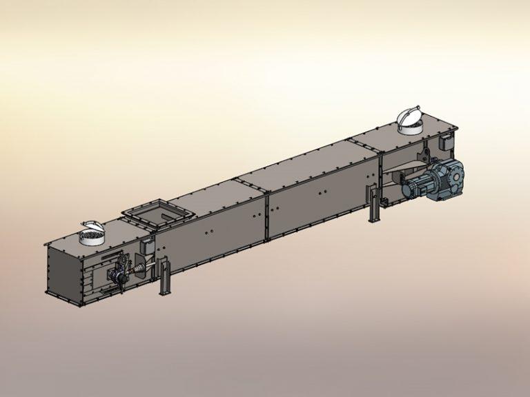 Antriebsstation TKF Kettenförderer Fördertechnik Konstruktion